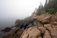 Bass Harbor Head Lighthouse, Acadia National Park, Mount Desert Island, Downeast, Maine.