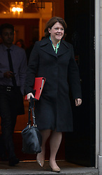 Maria Miller MP leaves a cabinet meeting at 10 Downing Street, London, United Kingdom. Tuesday, 21st January 2014. Picture by Ben Stevens / i-Images<br /> File photo -  Secretary of State for Culture, Media and Sport Maria Miller resigns following expenses allegations. Pictured filed Wednesday 9th April 2014.