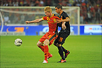 Fotball - AUGUST 15 - 2012: Belgia - Nederland<br /> Kevin De Bruyne of Belgium and Adam Maher of The Netherlan<br /> <br /> Norway only