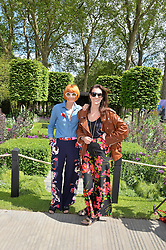 Left to right, MARY PORTAS and MELANIE RICKEY at the 2016 RHS Chelsea Flower Show, Royal Hospital Chelsea, London on 23rd May 2016