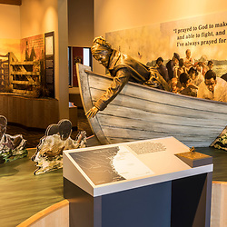 An exhibit at the visitor center at the Harriet Tubman Underground Railroad State Park in Church Creek, Maryland.