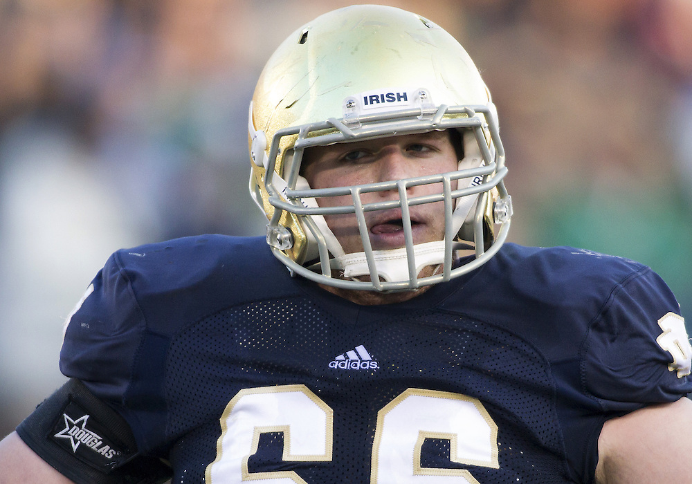November 17, 2012:  Notre Dame offensive guard Chris Watt (66) during NCAA Football game action between the Notre Dame Fighting Irish and the Wake Forest Demon Deacons at Notre Dame Stadium in South Bend, Indiana.  Notre Dame defeated Wake Forest 38-0.