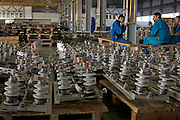 Samara, Russia, 25/02/2005..The Samara Electroschit {Electroshield] plant, one of Russia's leading electrical engineering companies. End products from the factory await distribution.