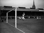 06/09/1961<br /> 09/06/1961<br /> 06 September 1961<br /> Soccer League of Ireland v Scottish League at Dalymount Park, Dublin. The game ended in a 1-1 draw.