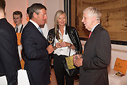 AMANDA WAKELEY; LORD CHARLES POWELL, The Veuve Clicquot Business Woman Award. Claridge's Ballroom. London W1. 11 May 2015.