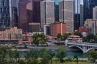 Bow River, Centre Street Bridge & Downtown Calgary
