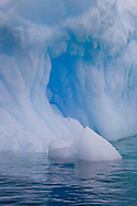 Fantastic ice sculptures on large icebergs in Marguerite Bay
