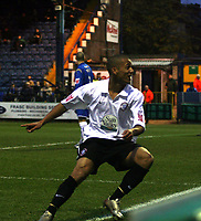 Photo: Mark Stephenson/Sportsbeat Images.<br /> Stockport County v Hereford United. Coca Cola League 2. 17/11/2007.Hereford's Lional Ainsworth celebrates his 2ed goal