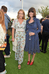 Left to right, LYDIA BRIGHT and DAWN O'PORTER at a vintage fashion pop-up evening hosted by Dawn O'Porter at The Gardening Society, John Lewis, Oxford Street on 27th July 2016.