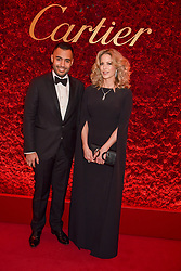 Sheikh Fahad Al Thani and Sheikha Melissa Al Fahad at The Cartier Racing Awards 2018 held at The Dorchester, Park Lane, England. 13 November 2018. <br /> <br /> ***For fees please contact us prior to publication***