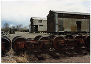 """Freight trucks - 1887, 20-ton, 3'7"""" wheel base with 26"""" wheels.<br /> D&RGW"""