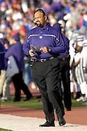 Kansas State head coach Ron Prince on the sidelines during action against Kansas at Memorial Stadium in Lawrence, Kansas, November 18, 2006.  Kansas beat K-State 39-20.<br />