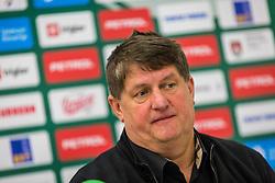 during Presentation of new coach of KK Petrol Olimpija Ljubljana, Sasa Nikitovic, on November 23, 2018 in SRC Stozice, Ljubljana, Slovenia. Photo by Ziga Zupan / Sportida