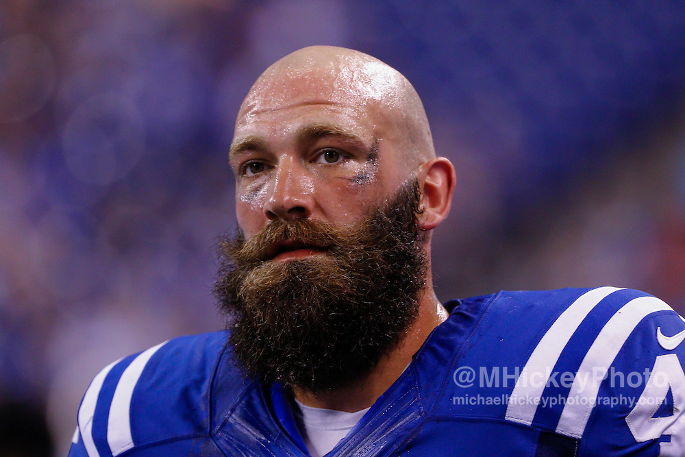 INDIANAPOLIS, IN - SEPTEMBER 3: Sean McGrath #46 of the Indianapolis Colts is seen during the game against the Cincinnati Bengals at Lucas Oil Stadium on September 3, 2015 in Indianapolis, Indiana. (Photo by Michael Hickey/Getty Images) *** Local Caption *** Sean McGrath