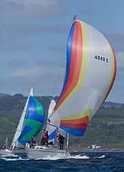 Clyde Cruising Club's Scottish Series 2019<br /> 24th-27th May, Tarbert, Loch Fyne, Scotland<br /> <br /> Day 1 - Perfect conditions to start the 45th Series.<br /> <br /> 4040C, Lemarac, Mr. A. Boyd Tunnock, Clyde Cruising Club, Moody 38<br /> <br /> Credit: Marc Turner / CCC