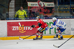 29.01.2017, Ice Rink, Znojmo, CZE, EBEL, HC Orli Znojmo vs EC VSV, Qualifikationsrunde, im Bild v.l. David Bartos (HC Orli Znojmo) Markus Schlacher (EC VSV) // during the Erste Bank Icehockey League qualification round match between HC Orli Znojmo and EC VSV at the Ice Rink in Znojmo, Czech Republic on 2017/01/29. EXPA Pictures © 2017, PhotoCredit: EXPA/ Rostislav Pfeffer