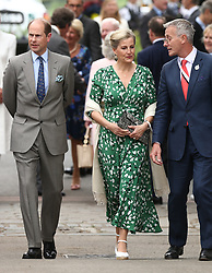 The Earl of Wessex (left) and the Countess of Wessex (centre) arrive at the RHS Chelsea Flower Show at the Royal Hospital Chelsea, London.