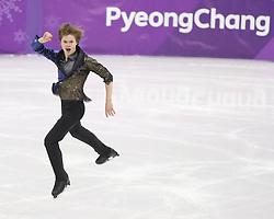 February 17, 2018 - Pyeongchang, KOREA - Deniss Vasiljevs of Latvia competing in the men's figure skating free skate program during the Pyeongchang 2018 Olympic Winter Games at Gangneung Ice Arena. (Credit Image: © David McIntyre via ZUMA Wire)