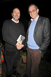 Left to right, the HON.DAVID MACMILLAN and WILLIE STIRLING at a party to celebrate the publication of Charles Glass's new book 'Americans in Paris' held at 12 Lansdowne Road, London W1 on 25th March 2009.