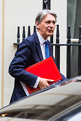 London, October 24 2017. Chancellor of the Exchequer Philip Hammond leaves the UK cabinet meeting at Downing Street. © Paul Davey