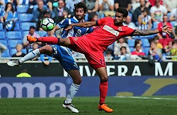 March 11, 2018 - Barcelona, Catalonia, Spain - Willian Jose and Esteban Granero during the match between RCD Espanyol and Real Sociedad, for the round 28 of the Liga Santander, played at the RCD Espanyol Stadium on 11th March 2018 in Barcelona, Spain. (Credit Image: © Joan Valls/NurPhoto via ZUMA Press)