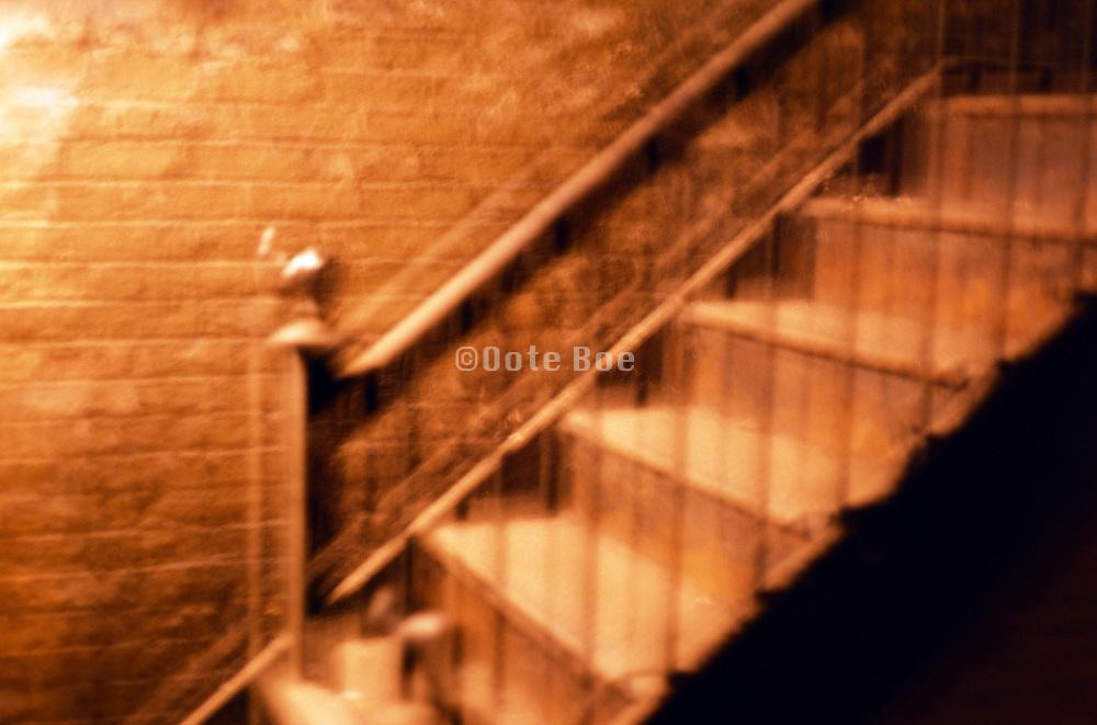 staircase and brick wall