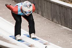 February 7, 2019 - Ljubno, Savinjska, Slovenia - Natalie Eilers of Canada competes on qualification day of the FIS Ski Jumping World Cup Ladies Ljubno on February 7, 2019 in Ljubno, Slovenia. (Credit Image: © Rok Rakun/Pacific Press via ZUMA Wire)