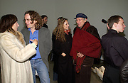 Melissa Chassay, Jamie Byng, Elizabeth Sheinkman and Tschaik Chassay. Chemical Life Support opening, White Cube. 3 March 2005. ONE TIME USE ONLY - DO NOT ARCHIVE  © Copyright Photograph by Dafydd Jones 66 Stockwell Park Rd. London SW9 0DA Tel 020 7733 0108 www.dafjones.com