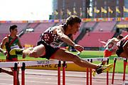 Matheo Bernat (FRA) competes in 110 Metres Hurdles Men during the IAAF World U20 Championships 2018 at Tampere in Finland, Day 2, on July 11, 2018 - Photo Julien Crosnier / KMSP / ProSportsImages / DPPI