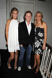 Left to right, KAT ROSE, GUY PELLY and ANNA BARNARD at the launch of Politics and The City - a new web site for women fusing politics with gossip, entertainment, news and fashion, held at the ICA, 12 Carlton House Terrace, London on 8th July 2008.<br />