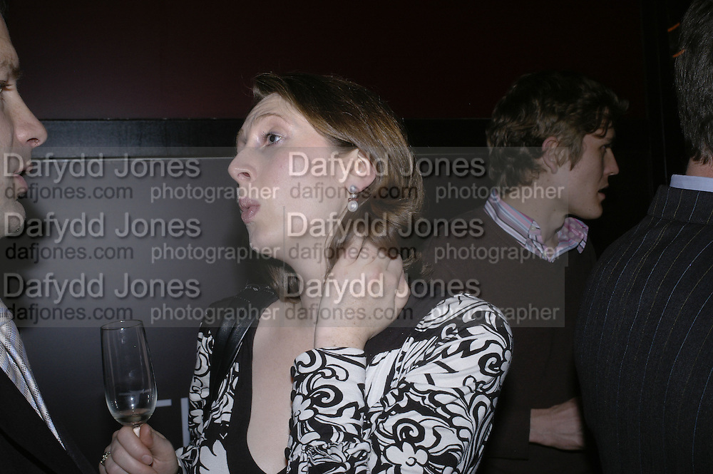 Katherine Rainbird and Simon Burgess, Drinks party to launch a new Thomas Pink shirt called The Mogul which has a pocket which houses one's cigar. Hostyed by the Spectator and Thomas Pink. Floridita. Wardour St. London. 1 November 2006. -DO NOT ARCHIVE-© Copyright Photograph by Dafydd Jones 66 Stockwell Park Rd. London SW9 0DA Tel 020 7733 0108 www.dafjones.com