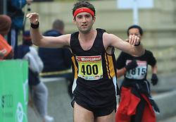 Jan Omahne v cilju na 13. Ljubljanskem maratonu po ulicah Ljubljane, 26. oktobra 2008, Ljubljana, Slovenija. (Photo by Vid Ponikvar / Sportal Images)./ Sportida)