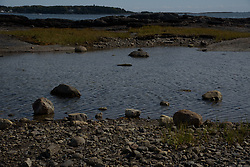 View of Pott's Point Preserve, South Harpswell Maine. October 2015. Part of the Harpswell Heritage Land Trust