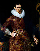 Jan Pieterszoon Coen by Jacob Waben early 17th century. Jan Pieterszoon Coen (1587 - 1629)  Dutch merchant, accountant-general and the fourth governor-general of Dutch East Indies. He was largely responsible for the harsh politics of time in the Dutch East Indies, now Indonesia.
