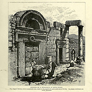 Remains of a Synagogue at Kefr Beirim [Kafr Bir'im, also Kefr Berem] Engraving on Wood from Picturesque Palestine, Sinai and Egypt by Wilson, Charles William, Sir, 1836-1905; Lane-Poole, Stanley, 1854-1931 Volume 2. Published in New York by D. Appleton in 1881-1884