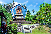Bali, Klungkung, Semarapura. If you arrive from Gianyar you will see this big sign, leaving no doubt that you are entering the Klungkung district.