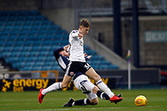 David Brooks of Sheffield United (R) is tackled by Ryan Tunnicliffe of Millwall (L). EFL Skybet championship match, Millwall v Sheffield Utd at The Den in London on Saturday 2nd December 2017.<br /> pic by Steffan Bowen, Andrew Orchard sports photography.