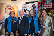 NO FEE PICTURES<br /> 23/1/16 Minister for Tourism Michael Ring and Maureen Ledwith, organiser of the Holiday World Show at the Allwee Caves stand at the Holiday World Show at the RDS in Dublin. Picture: Arthur Carron