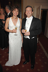 VINCENT BATTY and WILNA WESTENSEE at the 2008 Berkeley Dress Show at the Royal Hospital Chelsea, London on 3rd April 2008.<br />