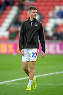 Aaron Jarvis (#27) of Luton Town FC warms up before the EFL Sky Bet League 1 match between Sunderland AFC and Luton Town at the Stadium Of Light, Sunderland, England on 12 January 2019.