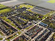 Nederland, Flevoland, Noordoostpolder, 16-04-2012; Espel, dorp gesticht 1965 in kader van Zuiderzeewerken (plan Lely)..Espel, planned village in new polder (1965)...luchtfoto (toeslag), aerial photo (additional fee required).foto/photo Siebe Swart