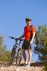 male cyclist in New Mexico
