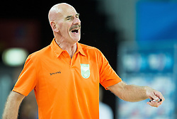 Toon van Helfteren, head coach of Netherlands during basketball match between Netherlands and Macedonia at Day 2 in Group C of FIBA Europe Eurobasket 2015, on September 6, 2015, in Arena Zagreb, Croatia. Photo by Vid Ponikvar / Sportida