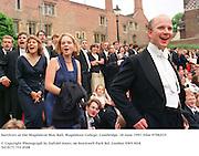 Survivors at the Magdalene May Ball, Magdalene College, Cambridge. 18 June 1997. Film 97582f35<br />© Copyright Photograph by Dafydd Jones<br />66 Stockwell Park Rd. London SW9 0DA<br />Tel 0171 733 0108