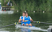 Henley-on-Thames. United Kingdom.  <br /> Silver Goblets and Nickalls' Challenge Cup  [Men's Pair]. Team ITALIA ITA M2-. Bow. M. LODO and V. VICINO.<br /> 2017 Henley Royal Regatta, Henley Reach, River Thames. <br /> <br /> 11:19:50  Saturday  01/07/2017   <br /> <br /> [Mandatory Credit. Peter SPURRIER/Intersport Images.
