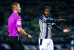Romaine Sawyers of West Bromwich Albion argues with Referee Thomas Bramall - Mandatory by-line: Robbie Stephenson/JMP - 16/09/2020 - FOOTBALL - The Hawthorns - West Bromwich, England - West Bromwich Albion v Harrogate Town - Carabao Cup