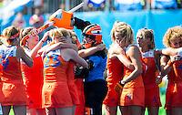 RIO DE JANEIRO  -  Nederland wint na shoot outs  de halve finale hockey dames  Nederland-Duitsland (1-1),  , tijdens de Olympische Spelen. Nederland door naar de finale. m  COPYRIGHT KOEN SUYK