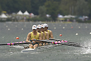 2005 FISA World Cup, Rotsee, Lucerne, SWITZERLAND, 08.07.2005 AUS M4X, Bow Antony Males, Andrew Wilson, Sam renton and David Kelly.  move away from the start  on the opening day of the final round of the 2005 FISA Rowing World Cup..© Peter Spurrier.  email images@intersport-images..[Mandatory Credit Peter Spurrier/ Intersport Images] Rowing Course, Lake Rottsee, Lucerne, SWITZERLAND.