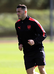 Arsenal's Sead Kolasinac during the training session at London Colney.