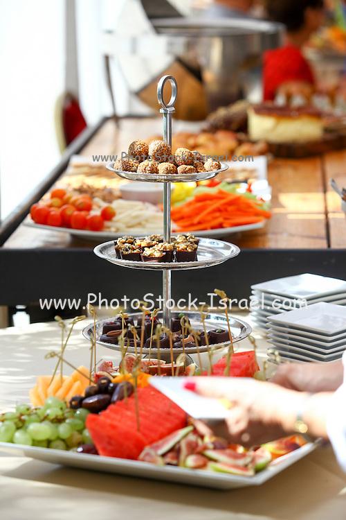 Luxurious food buffet